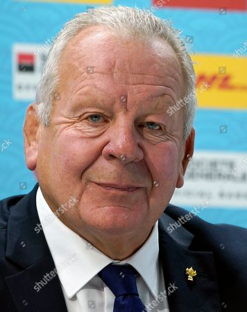 World Rugby Chairman Bill Beaumont attends the Rugby World Cup 2019 opening press conference in Tokyo, Japan, 17 September 2019. The Rugby World Cup 2019 will kick-off on 20 September.