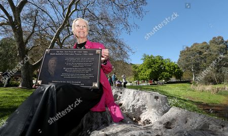 Stock Image of Former SA Premier Tom Price's Great Grand Daughter Stephanie McCarthy at the unveiling of the Tom Price Plaque at the Brownhill Creek Recreation Park in Adelaide, South Australia (SA), Australia, 17 September 2019.