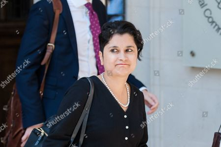 Shadow Attorney General for England and Wales Shami Chakrabarti leaves the Supreme Court.