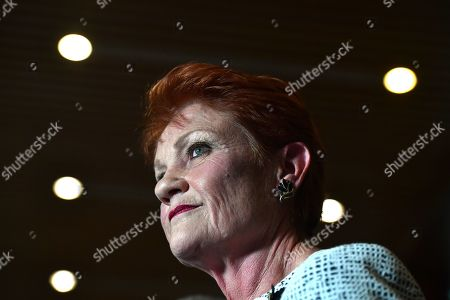 Editorial image of One Nation leader Senator Pauline Hanson, Canberra, Australia - 17 Sep 2019