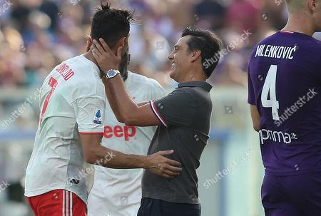 Cristiano Ronaldo (Juventus) and Vincenzo Montella (FIORENTINA)