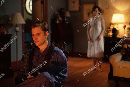 Max Lloyd-Jones as Tony and Jennifer Laporte as Leigh