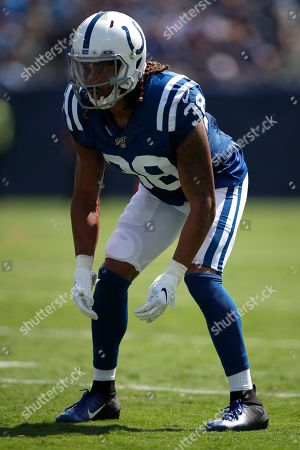 Indianapolis Colts cornerback Ryan Lewis (38) lines up against the Tennessee Titans during an NFL football game, in Nashville, Tenn. The Colts won the game 19-17