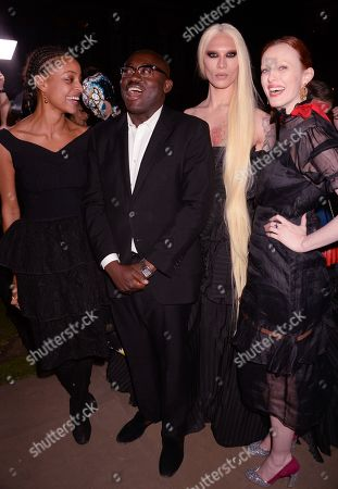 Stock Photo of Kesewa Aboah, Edward Enninful, Miss Fame and Karen Elson