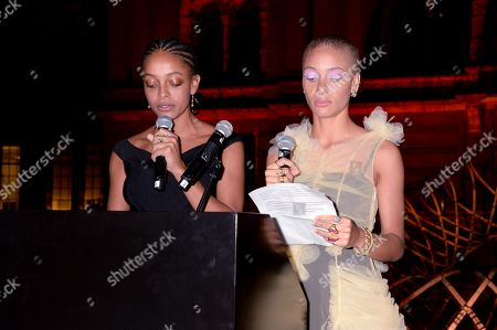 Stock Picture of Kesewa Aboah and Adwoa Aboah