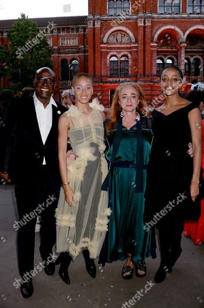 Stock Photo of Charles Aboah, Adwoa Aboah, Camilla Lowther and Kesewa Aboah