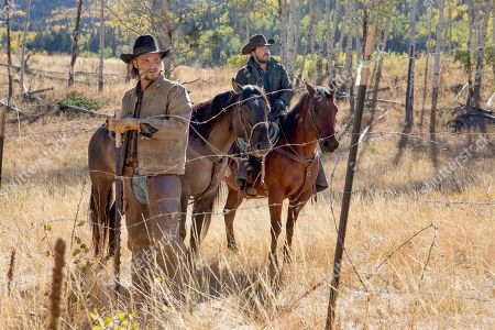 Luke Grimes as Kayce Dutton and Cole Hauser as Rip Wheeler