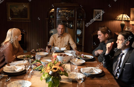 Kelly Reilly as Beth Dutton, Kevin Costner as John Dutton, Luke Grimes as Kayce Dutton and Wes Bentley as Jamie Dutton