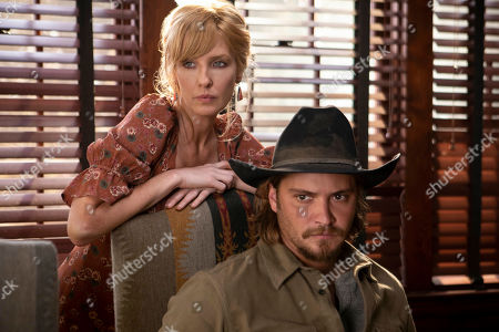 Kelly Reilly as Beth Dutton and Luke Grimes as Kayce Dutton