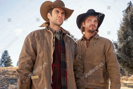 Wes Bentley as Jamie Dutton and Luke Grimes as Kayce Dutton