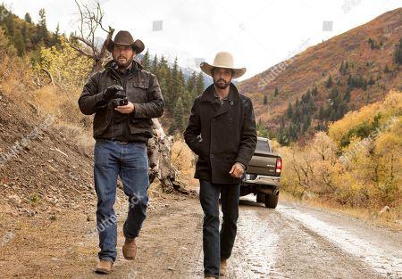 Stock Image of Cole Hauser as Rip Wheeler and Ryan Bingham as Walker