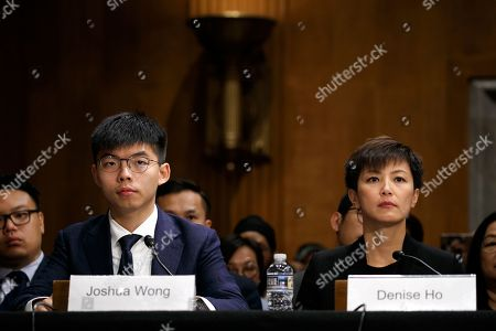 Joshua Wong, Denise Ho. Hong Kong activists Joshua Wong, left, and Denise Ho, attend a congressional hearing about the protests in Hong Kong, on Capitol Hill in Washington