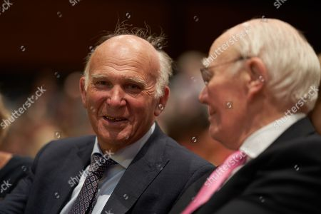 Vince Cable and Sir Menzies Campbell at the Liberal Democrats Party Conference