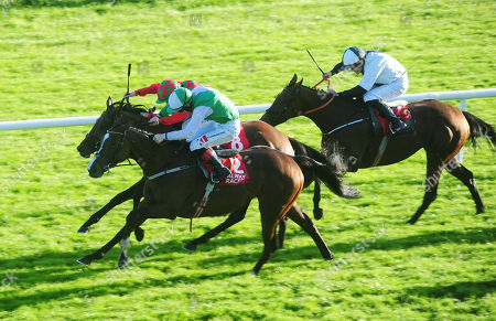 GALWAY DIAMOND HILL and Colin Keane (near) win the Ardilaun Hotel Oyster Stakes from CAMPHOR and Shane Foley.