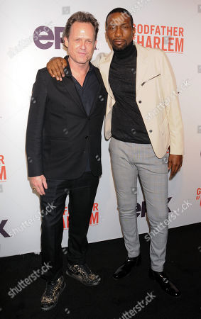 Dean Winters and Leon Robinson