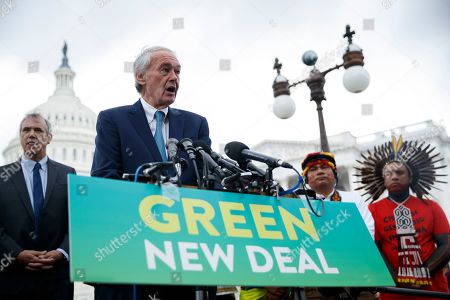 Senate Climate Change Task Force Chairman Edward Markey delivers remarks during a Senate Climate Change Task Force press conference at the US Capitol in Washington, DC, USA, 17 September 2019. The press conference kicks off a week of activities culminating in a climate strike Friday, 20 September, in which workers and students around the world will walk out to demand more action to fight global warming.