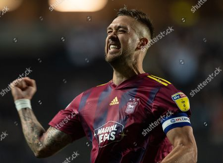Stock Photo of Luke Chambers of Ipswich Town celebrates at full-time