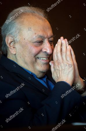Indian orchestra conductor Zubin Mehta talks to media on the occasion of the inaugural concert of the BCN Classics concerts cycle, in Barcelona, Spain, 17 September 2019. BCN Classics will celebrate a series of concerts for the upcoming 2019-2020 season in the L'Auditorio building, which will include the performance of the Israel Philharmonic Orchestra, directed by Mehta, and the children's choir of the Orfeo Catala.