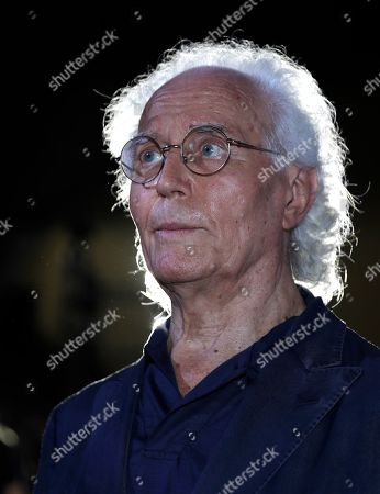 Stock Photo of Luciano Benetton, co founder of the Benetton group, stands after the Benetton Spring-Summer 2020 fashion show, unveiled during the fashion week, in Milan, Italy