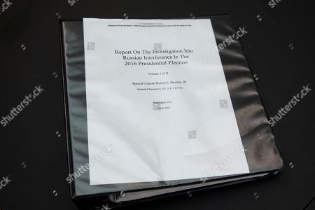A copy of a volume of the 'Report on the Investigation Into Russian Interference in the 2016 Presidential Election' by former special counsel Robert Mueller is on the witness table during a break in the House Judiciary Committee hearing entitled, 'Presidential Obstruction of Justice and Abuse of Power', on Capitol Hill in Washington, DC, USA, 17 September 2019. Former White House Staff Secretary Rob Porter and former White House Deputy Chief of Staff Rick Dearborn, who were both subpoenaed to appear beside Corey Lewandowski, did not show up. The White House has claimed Lewandowski is protected by executive privelege and has been directed not to answer questions regarding conversations on government matters with President Trump or senior administration officials. The committee is seeking information on possible obstruction of justice that former special counsel Robert Mueller detailed in his report.