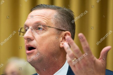 House Judiciary Committee ranking member Republican Doug Collins speaks during the House Judiciary Committee hearing entitled, 'Presidential Obstruction of Justice and Abuse of Power', with testimony from Former Trump campaign manager Corey Lewandowski (not pictured), on Capitol Hill in Washington, DC, USA, 17 September 2019. Former White House Staff Secretary Rob Porter and former White House Deputy Chief of Staff Rick Dearborn, who were both subpoenaed to appear beside Corey Lewandowski, did not show up. The White House has claimed Lewandowski is protected by executive privelege and has been directed not to answer questions regarding conversations on government matters with President Trump or senior administration officials. The committee is seeking information on possible obstruction of justice that former special counsel Robert Mueller detailed in his report.