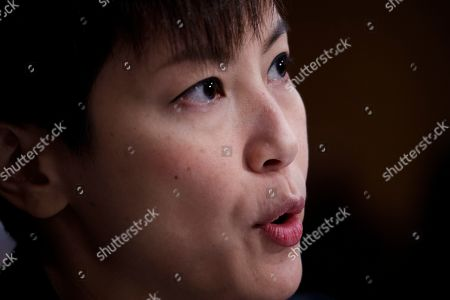 Pro-Democracy activist and Cantopop singer Denise Ho delivers remarks during the Congressional-Executive Commission on China's hearing 'Hong Kong's Summer of Discontent and US Policy Responses' on Capitol Hill in Washington, DC, USA, 17 September 2019. The Congressional-Executive Commission on China was created by Congress in October 2000 with the legislative mandate to monitor human rights and the development of the rule of law in China, and to submit an annual report to the President and the Congress.