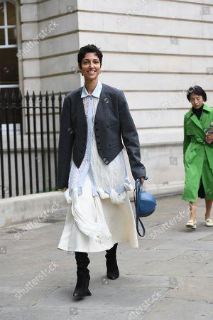 Editorial image of Street Style, London Fashion Week Spring/Summer 2020, UK - 16 Sep 2019