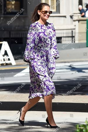 Editorial image of Katie Holmes out and about, New York, USA - 17 Sep 2019