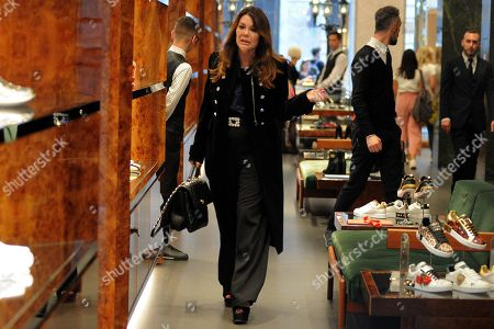 Lisa Vanderpump-Todd in the Dolce & Gabbana boutique