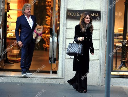 Lisa Vanderpump-Todd and her husband Ken Todd leaving the Dolce & Gabbana boutique