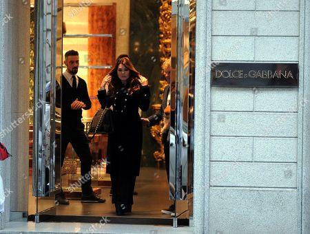 Lisa Vanderpump-Todd leaving the Dolce & Gabbana boutique
