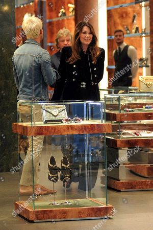 Stock Photo of Lisa Vanderpump-Todd in the Dolce & Gabbana boutique