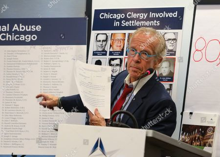 Jeff Anderson, an attorney for victims of sexual abuse by clergy, speaks during a news conference in Chicago, . Anderson says the Roman Catholic Archdiocese of Chicago has paid $80 million in settlements to clients represented by his law firm alone since 2000