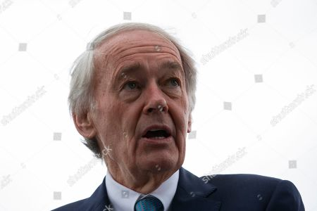 United States Senator Ed Markey was joined by several Democratic Senators and youth climate activists during a press conference on climate change outside the U.S. Capitol