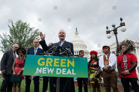 United States Senator Chris Van Hollen was joined by several Democratic Senators and youth climate activists during a press conference on climate change outside the U.S. Capitol