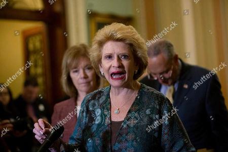 Stock Picture of United States Senator Debbie Stabenow (Democrat of Michigan) speaks