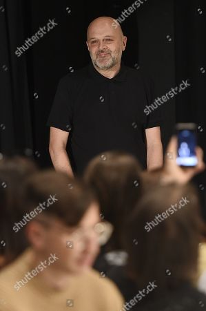 Stock Photo of Hussein Chalayan on the catwalk