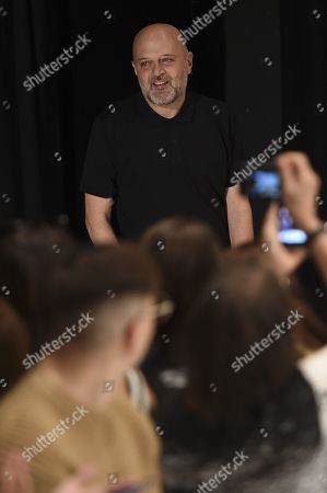 Stock Image of Hussein Chalayan on the catwalk