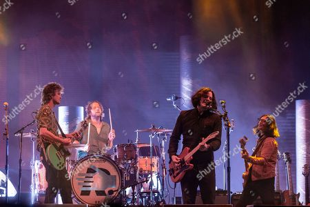 Stock Photo of The Raconteurs - Brendan Benson, Patrick Keeler, Jack White and Jack Lawrence