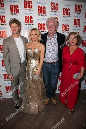Jay McGuiness (Josh Baskin), Kimberley Walsh (Susan Lawrence), Matthew Kelly (George MacMillan) and Wendi Peters (Mrs Baskin)