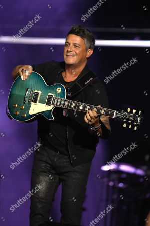 Editorial photo of Alejandro Sanz in concert at the American Airlines Arena, Miami, Florida - 07 Sep 2019