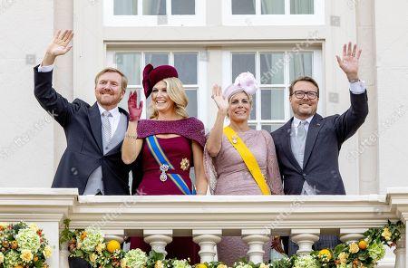 King Willem-Alexander, Queen Maxima, Princess Laurentien and Prince Constantijn