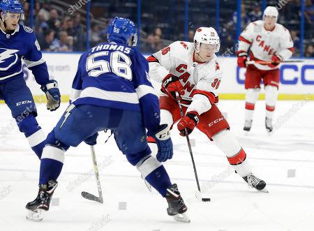 Editorial photo of Hurricanes Lightning Hockey, Tampa, USA - 17 Sep 2019