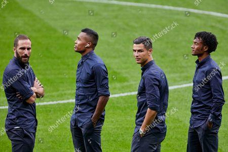 Gonzalo Higuain, Alex Sandro, Cristiano Ronaldo and Juan Guillermo Cuadrado