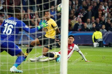 Edson Alvarez of Ajax scores 2-0