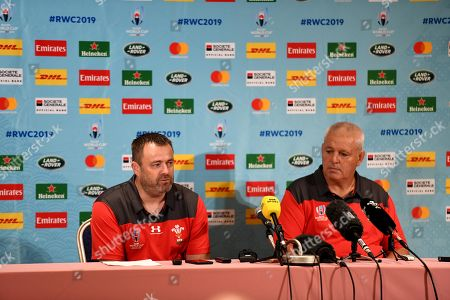 WRU Chief Executive Martyn Phillips and Head Coach Warren Gatland talk to media.