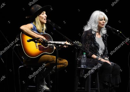 Sheryl Crow, Emmylou Harris. Singers Sheryl Crow, left, and Emmylou Harris perform together at the All for the Hall Benefit at The Novo, in Los Angeles. The event was a fundraiser for the Country Music Hall of Fame and Museum in Nashville, Tenn