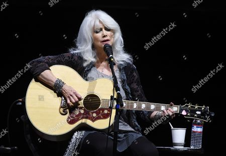 Country singer Emmylou Harris performs at the All for the Hall Benefit at The Novo, in Los Angeles. The event was a fundraiser for the Country Music Hall of Fame and Museum in Nashville, Tenn