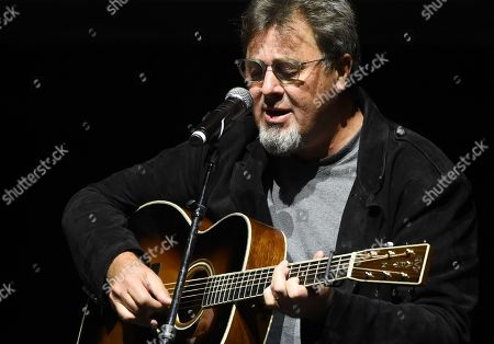 Vince Gill performs at the All for the Hall Benefit at The Novo, in Los Angeles. The event was a fundraiser for the Country Music Hall of Fame and Museum in Nashville, Tenn