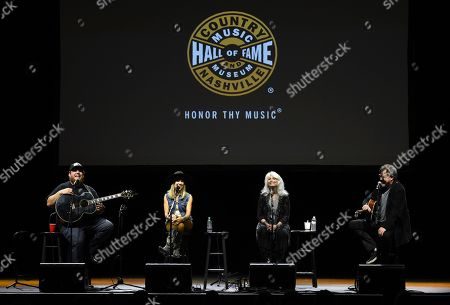 Luke Combs, Sheryl Crow, Emmylou Harris, Vince Gill. Luke Combs, from left, Sheryl Crow, Emmylou Harris and Vince Gill perform together at the All for the Hall Benefit at The Novo, in Los Angeles. The event was a fundraiser for the Country Music Hall of Fame and Museum in Nashville, Tenn